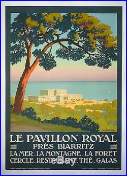 LE PAVILLON-ROYAL près BIARRITZ, AFFICHE ORIGINALE 1920 CONSTANT DUVAL