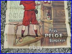 LE SOUVERAIN vin tonique au vieux Porto Paul Peglé BORDEAUX ancienne affiche