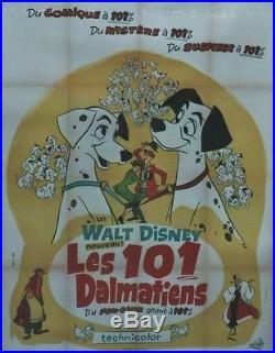 LES 101 DALMATIENS (101 DALMATIANS) Affiche originale entoilée1961 Walt DISNEY
