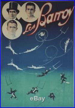 LES BARROY Affiche originale entoilée Litho HARFORD années 30 73x104cm