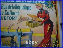 LOT affiches anciennes CHAPELLERIE BRUYAS