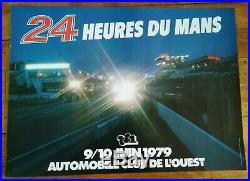 LOT de 2 AFFICHES ORIGINALES 24 HEURES DU MANS 1971 / 1977 / 1979