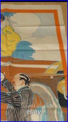 Large original French poster-affiche very rare MICHELIN by René Vincent 1910s