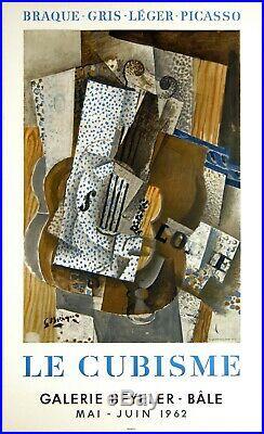 Le Cubisme Galerie Beyeler Bale 1962 Affiche 75x47 CM Braque Leger Gris Picasso