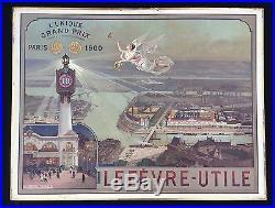Lefèvre-Utile Panonceau lithographié Exposition Universelle 1900 par Luigi Loir