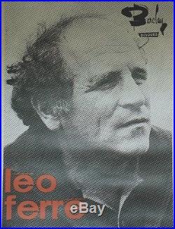 Léo FERRE / BARCLAY Affiche originale entoilée Photo H. GROODECLAES 82x111cm