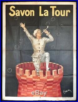 Leonetto CAPPIELLO Affiche lithographiée Savon La Tour / 120 x 160cm