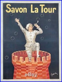 Leonetto Cappiello Affiche lithographiée Savon La Tour 120 x 160cm entoilée