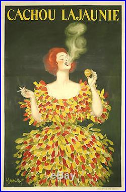 Leonetto Cappiello CACHOU LAJAUNIE Original french vintage poster circa 1922