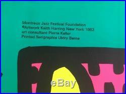 Les 3 affiches de Keith Haring ORIGINAL SERIGRAPHIE Montreux Jazz Festival