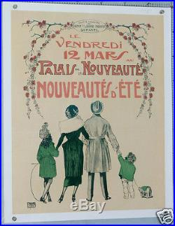 Lg Affiche 1920 Grands Magasins Dufayel Palais De La Nouveauté Nouveauté D'été