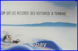 Litho Renault Etoile Filante Turbine Delarue Nouvelliere Lac Sale Sept 1956