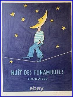 Lithographie originale Nuit des funambules SAVIGNAC 1985