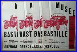 Lot d'affiches anciennes/original posters auto Citroen Le Mans Dauphine Doisneau