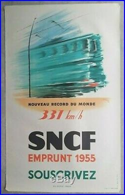 Lot de 13 affiches anciennes/posters tourisme France train travel SNCF 1935-1960