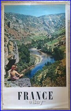 Lot de 16 affiches anciennes tourisme France/original travel posters 1940-1980