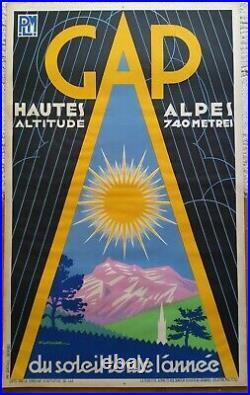 Lot de 5 affiches anciennes/original travel posters litho PLM Revard 1930-1960