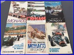 Lot de programmes officiels d'époque du Grand prix de Monaco
