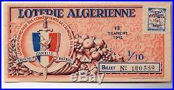 Loterie Algérienne 13° tranche, Légion française des combattants de l'Afrique