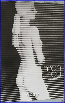 MAN RAY AFFICHE 1981 PHOTOGRAPHIE ART CINETIQUE NU 1961 90 x 60 cm