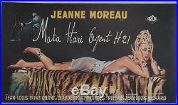 MATA-HARI AGENT H21 Affiche belge entoilée (Jeanne MOREAU /François TRUFFAUT)