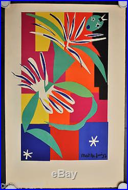MATISSE HENRI La danseuse créole II, 1965. Affiche avant la lettre. Arches. Mourlot