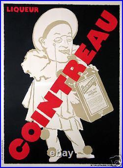MERCIER AFFICHE ANCIENNE LIQUEUR COINTREAU DRINK POSTER ci 1925