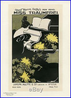 MISS TRÄUMEREI. Litho Maîtres de l'Affiche entoilée Pl. 99 Ethel REED 1895