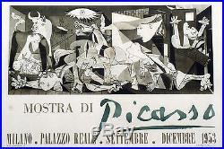 MOSTRA DI PICASSO (EXPO MILANO 1953) Affiche originale entoilée 200x142cm