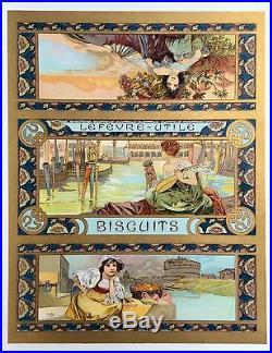 MUCHA Mélange Italien lithographiée / Biscuit Lefèvre-Utile LU / Venise