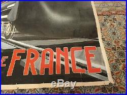 Maquette affiche ancienne Rail de France style Cassandre
