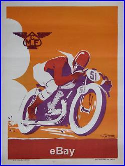 Mcf Motocycle Club De France. 1 X Affichette. Geo Ham. Format 40 X 30 CM