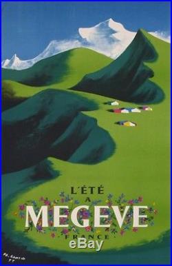 Megève Été Station De Montagne Ski En France Par Ganeau1955 Affiche Ancienne