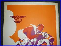 Moto club de France VERITABLE Affiche Geo Ham 1935