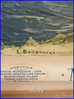 Moullot Affiche Ancienne Calendrier Marseille Carry 1928