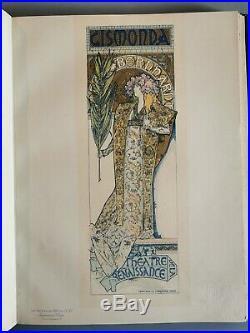 Mucha original Maîtres De L'affiche 1896 Litho Originale gismonda