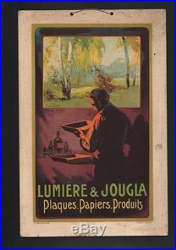 N° 2010 / Affichette carton d'epoque Lumiere & Jougla plaques. Papiers. 1924
