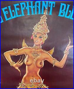 OKLEY L'éléphant Bleu Affiche pour les Spectacles Thaïlandais / Érotisme