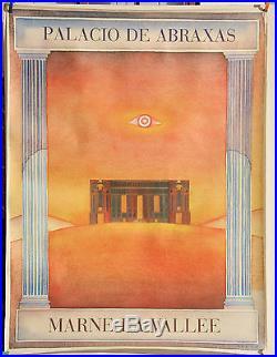 ORIGINAL POSTER AFFICHE FOLON PALACIO DE ABRAXAS MARNE LA VALLEE +/-1980