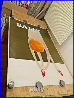 Old Poster Original Bally Shoes Women Signed by Fix-Masseau 1985 Retro