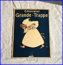 Original'30 Carton Pub Chocolat Grande-trappe Signé Mich Publicité Wall. Paris
