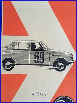 Original Rallye Poster DDR Berlin 1969
