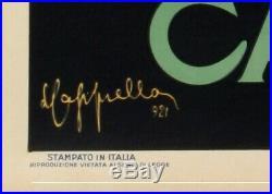Original Vintage Poster Cappiello Bitter Campari Liqueur Arlequin 1921
