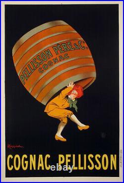 Original Vintage Poster Cappiello L Cognac Pellisson Liqueur petite 1907