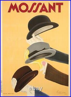 Original Vintage Poster Cappiello Leonetto Chapeau Mossant Gant 1938