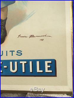 Original ancien carton publicite 1925-30 LU firmin pub affiche biscuit nantais