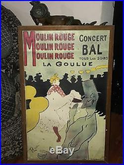 Originale Ancienne Affiche Moulin Rouge La Goulue Henri De Toulouse Lautrec 1891