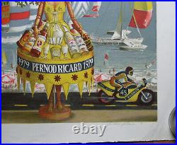P 77 Pernod Ricard. 1 X Lithographie 1979 Motos Format 76 X 56 CM