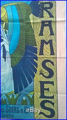 P. A. Laurens Affiche Exposition Universelle 1900 Ramsès Théâtre Égyptien