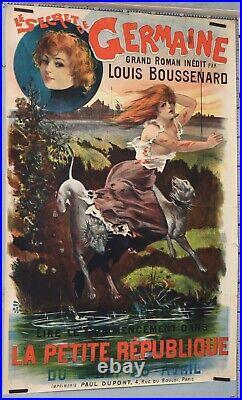 PAL Affiche ancienne ci 1895-1900 LE SECRET DE GERMAINE LA PETITE REPUBLIQUE